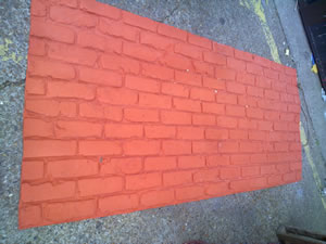 FMJ2048 used to create light weight flexible brick sheets