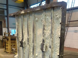 Pictures are to show the insulation of concrete culverts , to prevent castings cracking in winter months , product used Class1 spary applied foam